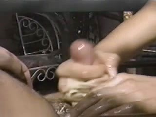 Sexy wife treats her dude with handjob at the...