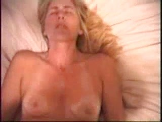 Blonde amateur wife blowing and fucking big...