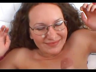 Sexy amateur brunette ex-gf gives blowjob and...