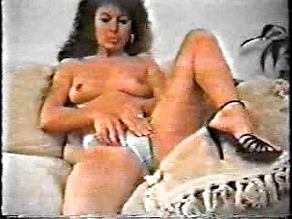 Sexy italian retro lady naked posing and...