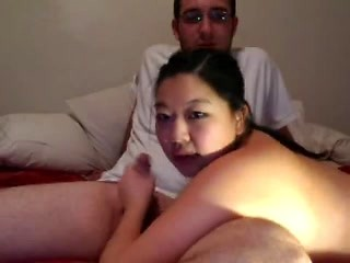 Chubby Chinese girlfriend masturbating on web...