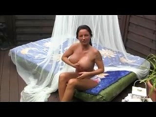 Busty mature whore teasing big cock with...