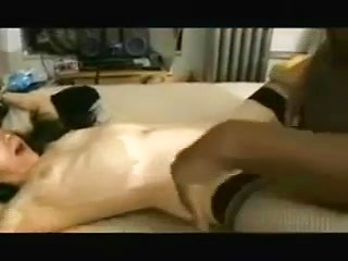 Housewife sucks big black cock and lets him...