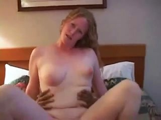 My curvy wife bounces on his black cock in...