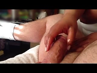 Decent British amateur wife strokes big cock...
